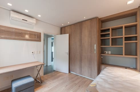 Apartamentos Decorados: Quarto  por ME Fotografia de Imóveis