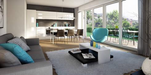 wohnungen bautr ger 3d visualisierung by winhard 3d homify. Black Bedroom Furniture Sets. Home Design Ideas