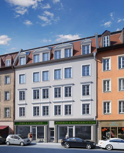 Architektur 3d visualisierung von winhard 3d homify for Altbausanierung frankfurt