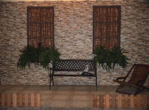 Azulejos para fachadas o paredes de estilo piedra de for Revestimiento ceramico paredes interiores