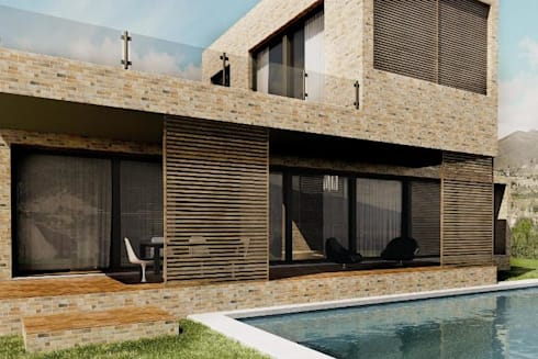 Azulejos para fachadas o paredes de estilo piedra de for Fachadas con azulejo