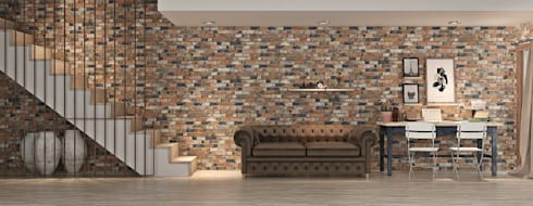 Azulejos para fachadas o paredes de estilo piedra de interazulejo homify - Azulejos imitacion piedra interior ...
