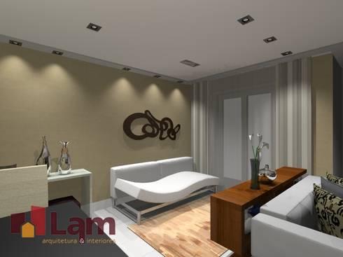 Sala de Estar - Projeto:   por LAM Arquitetura   Interiores