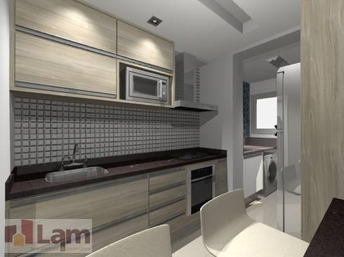 Cozinha - Projeto: Cozinhas modernas por LAM Arquitetura | Interiores