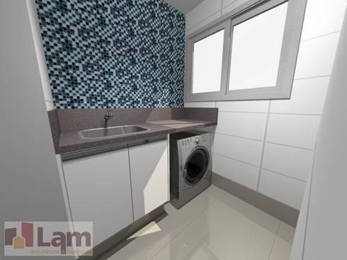 Área de Serviço - Projeto: Cozinhas modernas por LAM Arquitetura | Interiores