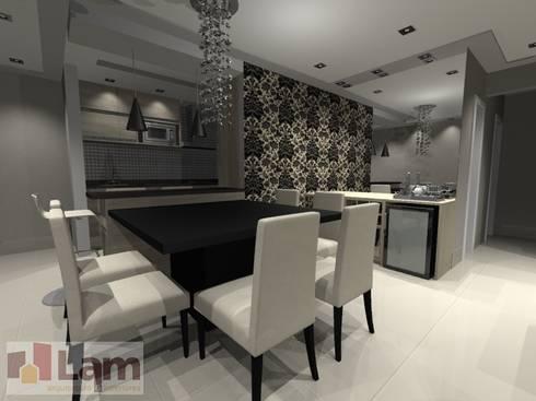 Sala de Jantar - Projeto: Salas de jantar modernas por LAM Arquitetura | Interiores