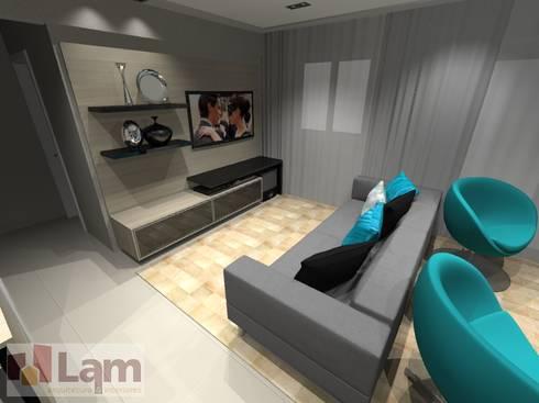 Sala de Estar - Projeto: Salas de estar modernas por LAM Arquitetura | Interiores