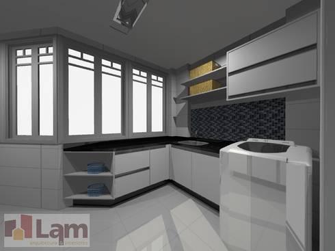 Área de Serviço - Projeto:   por LAM Arquitetura | Interiores