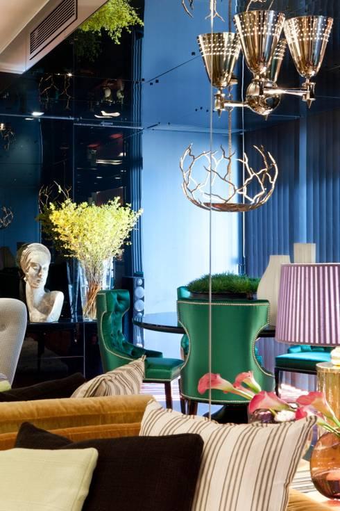 APARTAMENTO LISBOA: Salas de jantar ecléticas por Manuel Francisco Jorge interior Design Studio