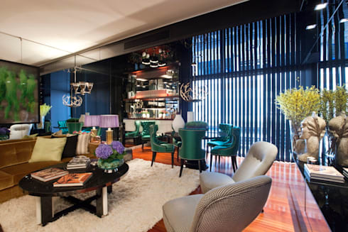 APARTAMENTO LISBOA: Salas de estar ecléticas por Manuel Francisco Jorge interior Design Studio