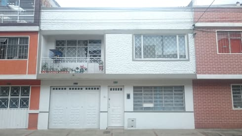 Fachada principal (vista frontal): Casas de estilo minimalista por MVP arquitectos