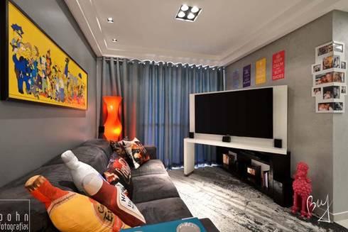 Apartamento jovem : Salas de estar modernas por Bethina Wulff