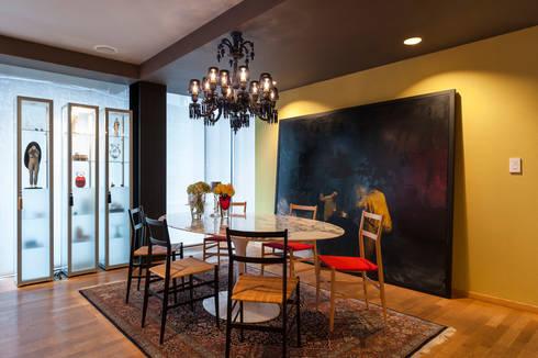 Comedor: Comedores de estilo ecléctico por MAAD arquitectura y diseño