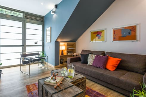 interior apto 101: Hoteles de estilo  por PLANTA BAJA ESTUDIO DE ARQUITECTURA