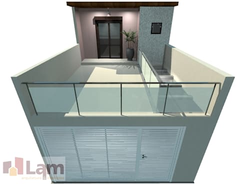 Fachada - Projeto:   por LAM Arquitetura   Interiores