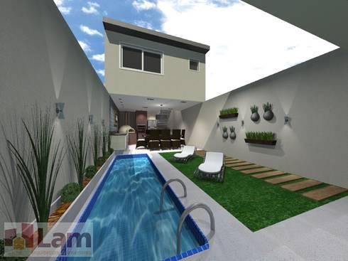 Área de Lazer - Projeto:   por LAM Arquitetura   Interiores