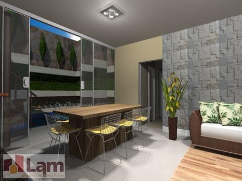 Churrasqueira - Projeto:   por LAM Arquitetura | Interiores