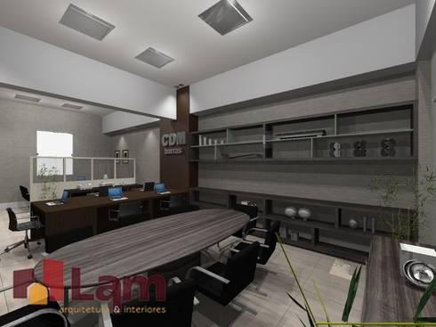 Sala de Reunião - Projeto:   por LAM Arquitetura | Interiores