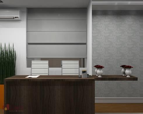 Recepção - Projeto:   por LAM Arquitetura   Interiores