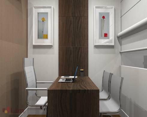 Sala de Trabalho - Projeto:   por LAM Arquitetura   Interiores