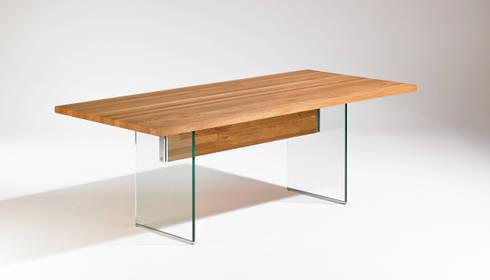Esstisch glas modern  ROSE-HANDWERK: Esstisch Holz Glas Design | homify