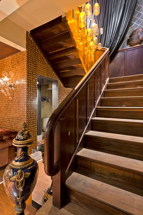 ESTAR DE BOAS-VINDAS - Mostra Morar Mais: Salas de estar  por Estúdio Pantarolli Miranda - Arquitetura, Design e Arte