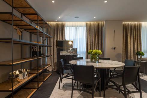 DEPARTAMENTO EN LOMAS: Salas multimedia de estilo clásico por HO arquitectura de interiores
