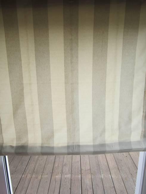 Raffrollo Beige Hellbraun   10cm Blockstreifen: Mediterrane Fenster U0026 Tür  Von Ramonas Nähstube   Window