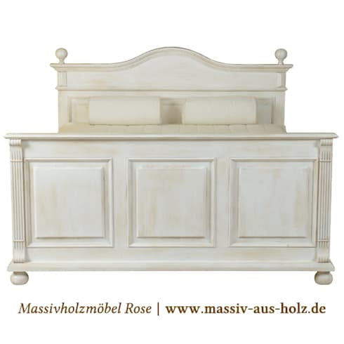 landhausbett von massiv aus holz homify. Black Bedroom Furniture Sets. Home Design Ideas