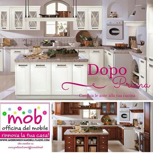 relooking #restyling #makehover #cambio ante e #rinnovo mobili di ... - Rinnovare Ante Cucina