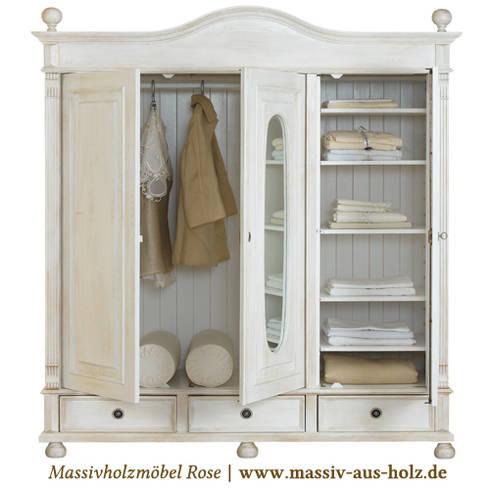 Kleiderschrank zeichnung  Massivholzmöbel Rose: Kleiderschrank im Landhausstil | Massivholz ...