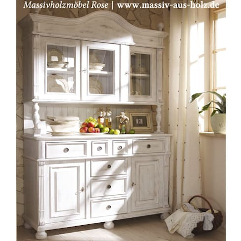 massiv aus holz landhausmoebel shabby chic alt wei. Black Bedroom Furniture Sets. Home Design Ideas