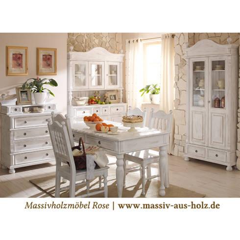 Landhausmöbel küche  Landhausmoebel | Shabby Chic Alt weiß von Massivholzmöbel Rose ...