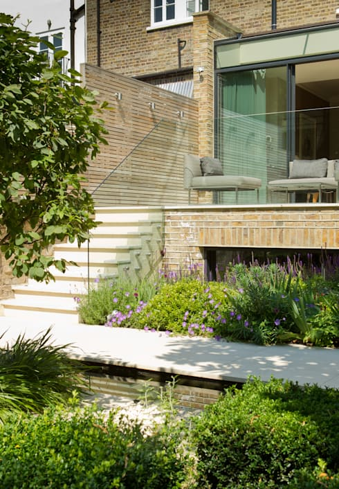 ​Garden Terrace at Newton Road House in Westbourne Grove:  Terrace by Nash Baker Architects Ltd