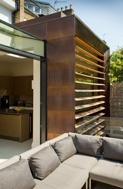 Terras door Nash Baker Architects Ltd