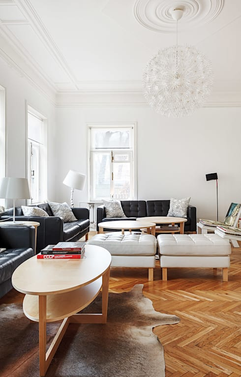 scandinavian Living room by K-Studio