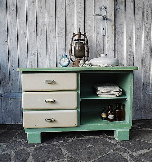 Vintage kommode pastell shabby chic by gerne wieder for Kommode shabby chic
