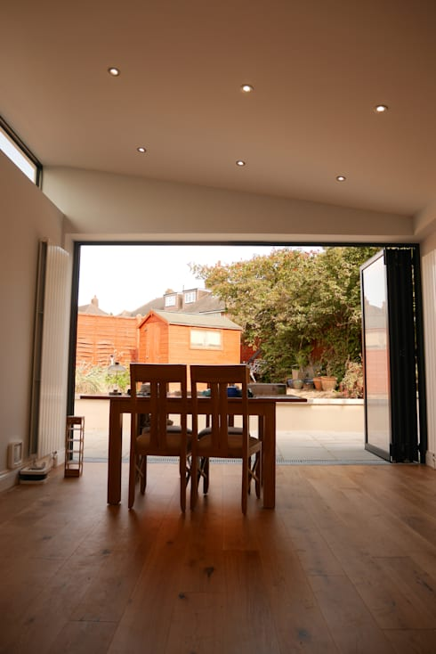 Rear Bi Fiolding Doors and Dining Area - As Built:   by Arc 3 Architects & Chartered Surveyors