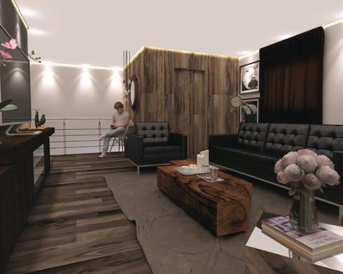 Departamento BM: Salas de estilo escandinavo por Taller 03