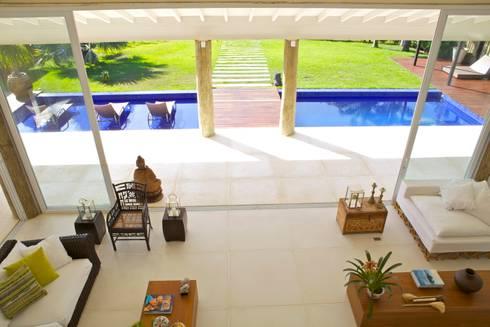 Projeto Residencial – Manguinhos, Búzios: Terraços  por Mônica Gervásio Arquitetura & Design