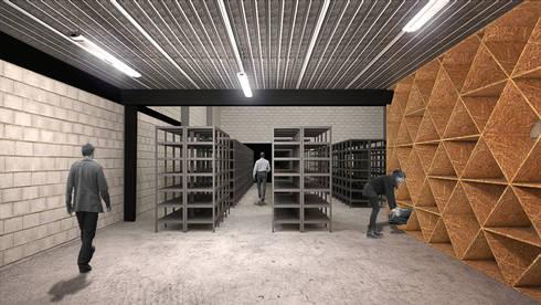 Centro de Almacenamiento Antenna: Oficinas y tiendas de estilo  por DOSA studio