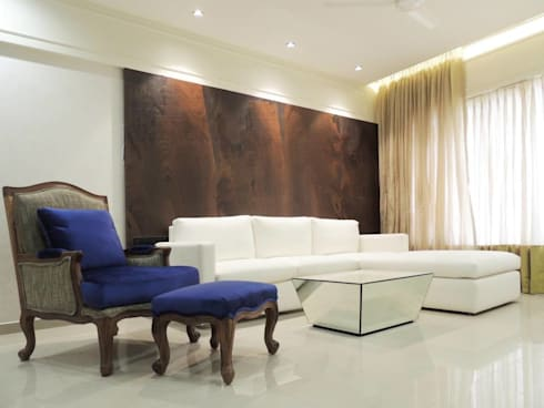 A project at Borivali: modern Living room by SwitchOver Studio