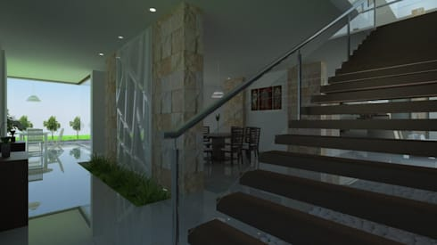 Vista de Comedor: Comedores de estilo moderno por JRK Diseño - Studio Arquitectura