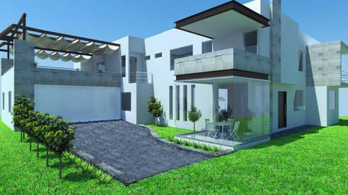 Fachada Principal: Casas de estilo moderno por JRK Diseño - Studio Arquitectura