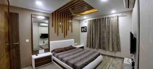 3BHK—Interior 9th Floor Flat @Bharuch: modern Bedroom by SkyGreen Interior