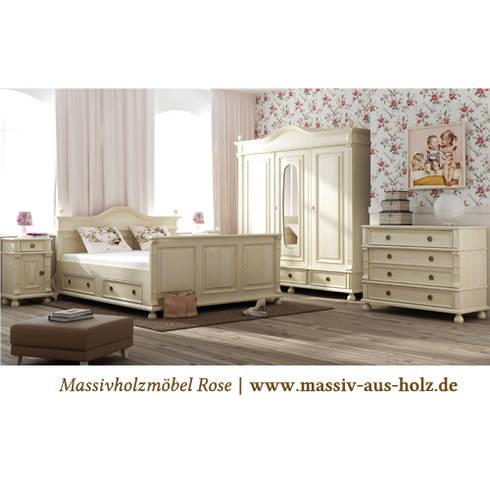 Nachtschrank   Antik Weiß: Klassische Schlafzimmer Von Massiv Aus Holz