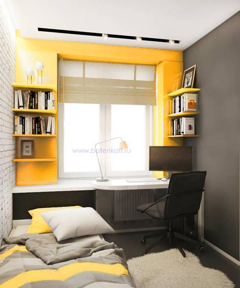 Dormitorios infantiles de estilo  por Дизайн студия 'Дизайнер интерьера № 1'