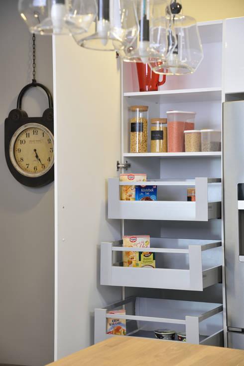 Bodrum Femaş Mobilya – Larix: endüstriyel tarz tarz Mutfak