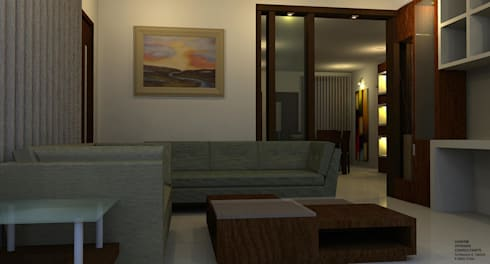 Residence: modern Living room by Al Imaraa