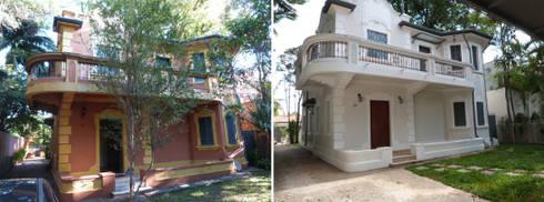 Casa Jardim paulistano vista de frente:   por Bel e Tef Atelier da Reforma